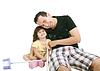 Padre e hija jugando juntos | Foto de stock