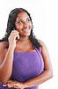 ID 3359559 | Wszystkiego najlepszego afrykańskiego kobieta przemawia na jej telefon | Foto stockowe wysokiej rozdzielczości | KLIPARTO