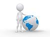 Hombre 3d y globo de la tierra | Ilustración