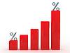 Czerwony wykres | Stock Illustration