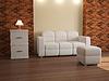 Interieur mit weißen Möbeln | Stock Illustration