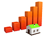 Ceny nieruchomości | Stock Illustration