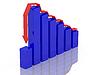 Niebieski wykres | Stock Illustration