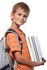 ID 3371730 | Knabe mit Lehrbüchern | Foto mit hoher Auflösung | CLIPARTO