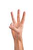 Drei Finger in Luft von männlichen Hand gehalten | Stock Foto