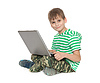 Boy mit Laptop | Stock Foto