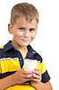 Junge trinkt Milch | Stock Foto