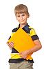 ID 3383868 | Uczeń trzyma książkę | Foto stockowe wysokiej rozdzielczości | KLIPARTO