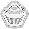 coupon Aufkleber mit Kuchen