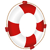 Rot mit Seil Ring-Boje