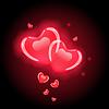 Red Herzen für Valentine `s Tag