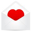 ID 3372937 | Koperta z czerwonym sercem | Klipart wektorowy | KLIPARTO