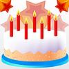 Kuchen mit Kerze