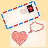 Liebe Brief für Valentine `s Tag | Stock Vektrografik