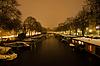 ID 3379978 | Snowy Amsterdam At Night | Foto stockowe wysokiej rozdzielczości | KLIPARTO