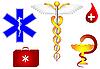 Медицинские и фармакологические знаки | Векторный клипарт
