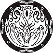 Rundes Designmit Skorpion  | Stock Vektrografik