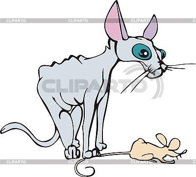 Kot i mysz cartoon | Klipart wektorowy |ID 3001065