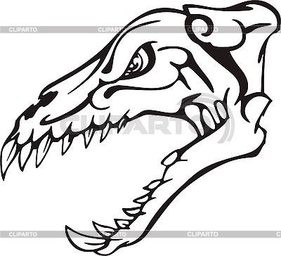 Dinosaurier-Schädel | Stock Vektorgrafik |ID 3001069