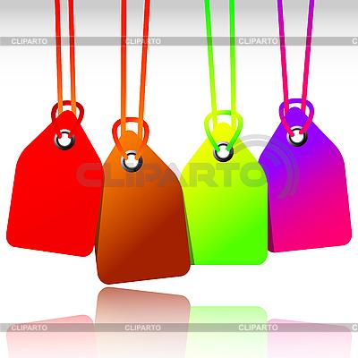 Leere farbige Anhänger | Stock Vektorgrafik |ID 3001272