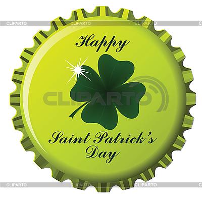 Flaschendeckel zum Tag von St. Patrick | Stock Vektorgrafik |ID 3001339
