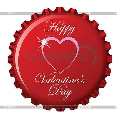 Valentines Day Vector Art. Happy valentine#39;s day bottle
