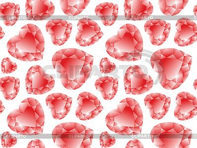 Valentine-Muster mit Diamanten  | Stock Vektorgrafik |ID 3001445