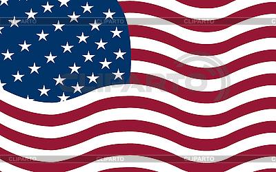 American flag flying | Klipart wektorowy |ID 3001723