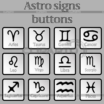 Astro-Zeichen als Tasten | Stock Vektorgrafik |ID 3001775