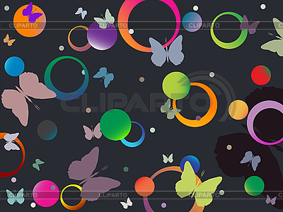 Schmetterlinge und Blasen | Stock Vektorgrafik |ID 3002813