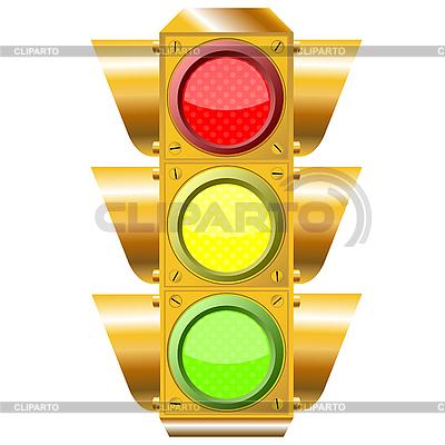 Krzyż świateł drogowych | Klipart wektorowy |ID 3003227