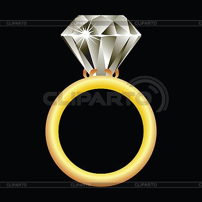Goldring mit Brillant | Stock Vektorgrafik |ID 3003363