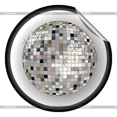 Aufkleber silbere Disco-Kugel | Stock Vektorgrafik |ID 3003387