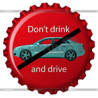 Nie pić i jechać | Klipart wektorowy |ID 3003427