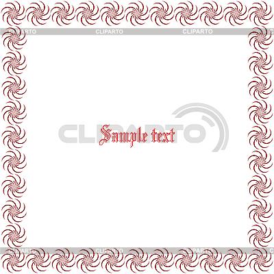 Kwiatowy granicy z miejsca na tekst | Klipart wektorowy |ID 3003563