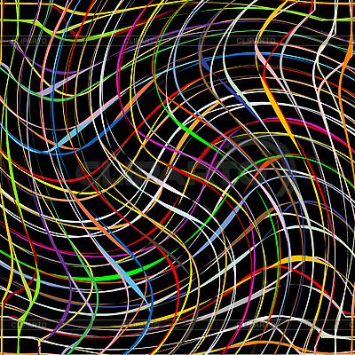 Świeże, kolorowe paski kręcić na czarnym tle | Klipart wektorowy |ID 3003697