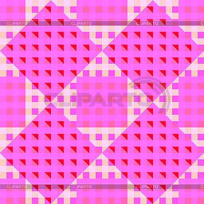 几何粉红色的无缝模式 | 向量插图 |ID 3003765