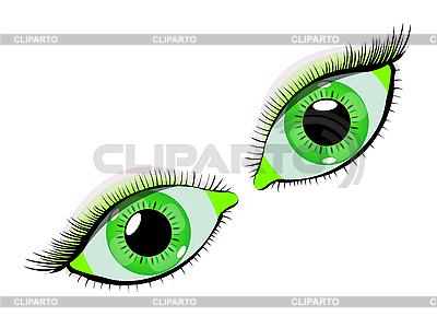 Zielone oczy | Klipart wektorowy |ID 3003897