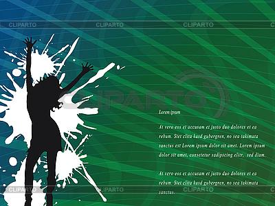 Abstrakter Hintergrund mit Frau-Silhouette | Stock Vektorgrafik |ID 3003951