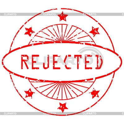 Grunge pieczęć okrągła - odrzucony | Klipart wektorowy |ID 3003975