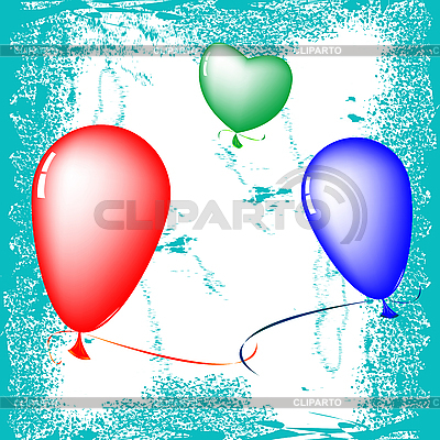 Farbige Luftballons | Stock Vektorgrafik |ID 3004079
