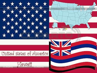 Ilustracja stanu Hawaje | Klipart wektorowy |ID 3004081