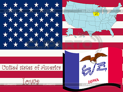 Iowa State ilustracji | Klipart wektorowy |ID 3004177