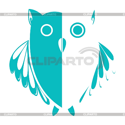 Blau-Weiße Eule | Stock Vektorgrafik |ID 3004196