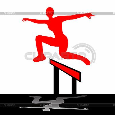 Skoki kobieta ilustracji | Klipart wektorowy |ID 3004204