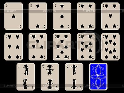 Dzieci karty do gry - piki | Klipart wektorowy |ID 3004236
