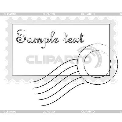 Briefmarke   Stock Vektorgrafik  ID 3004348