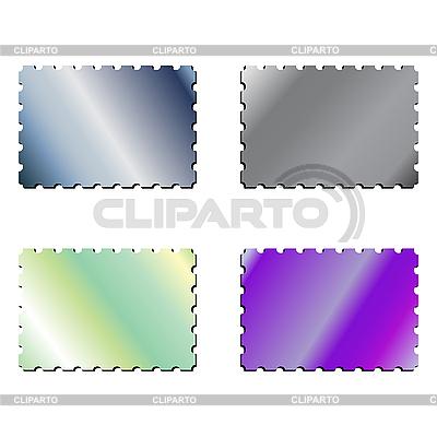 Metallische Briefmarken | Stock Vektorgrafik |ID 3004438