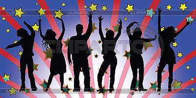 Menschen tanzen am Disko | Stock Vektorgrafik |ID 3004651