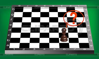 Pion i szachownica | Klipart wektorowy |ID 3004671